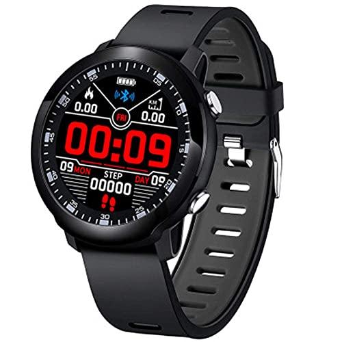 Fitness Tracker, IP68 pulsera deportiva impermeable con monitor de ritmo cardíaco, monitor de sueño, contador de calorías, reloj inteligente para hombres y mujeres, color negro