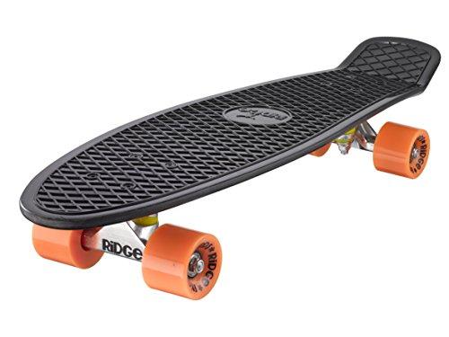 Ridge 27' Big Brother Retro CruiserSkateboard, Nero/Arancione