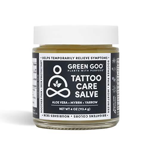 Green Goo Natural Skin Care Salve, Tattoo Care, 4-Ounce Jar