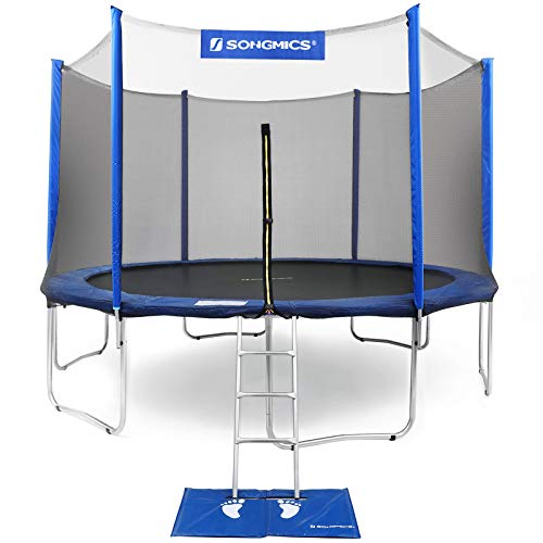 SONGMICS 15 Feet Trampoline with Net, Safety Pad, Ladder, Jumping Mat Enclosure Trampoline Outdoor Backyard USTR15FTV1