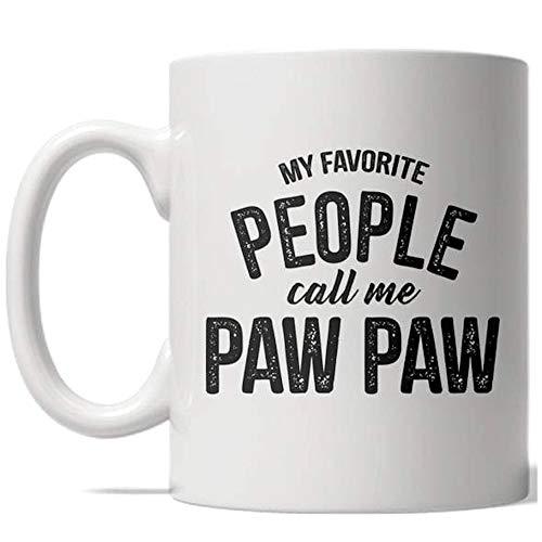 My Favorite People Call Me Paw Paw Mug Grandparent Coffee Cup - 11oz