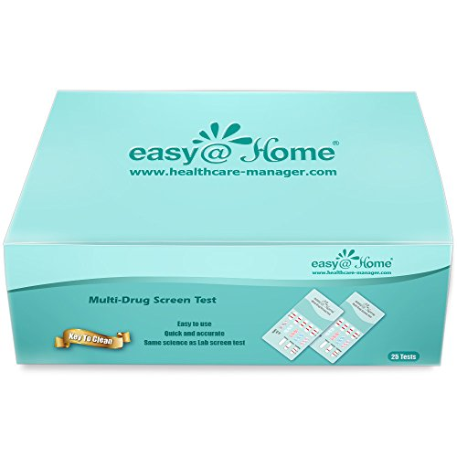 Why Choose 50 Pack Easy@Home 5 Panel Instant Drug Test Kits – Testing Marijuana (THC), COC, OPI 2000, BZO, MET/mAMP – Urine Dip Drug Testing – #EDOAP-654