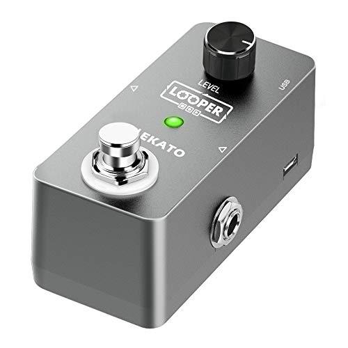 LEKATO Pedal de guitarra Looper efecto eléctrico Pedal de guitarra Loop pedal ilimitado Overdubs 5 minutos Looping Time Loop Station para guitarras con cable USB