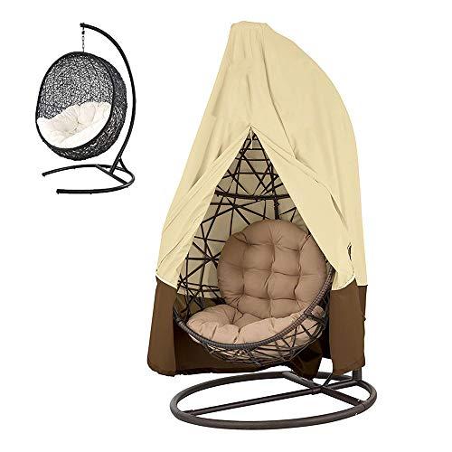 Housse de Fauteuil Suspendu en 420D Oxford Imperméable, Couverture de Oeufs Chaise avec Grande Capacite pour Mobilier Balancelles de Jardin Housse Meuble 190 x 115cm (190t)