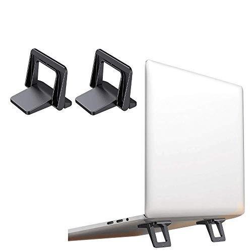 Mini soporte para computadora portátil, soporte para computadora portátil para escritorio, paquete de 2 pies ergonómicos para teclado, almohadilla de enfriamiento plegable para computadora portátil