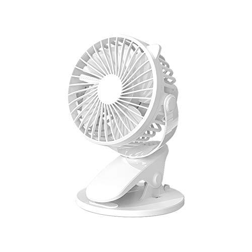 Pkommn Ventilador giratorio de 360 grados con clip, silencioso, ventilador de mesa con abrazadera en miniatura, para la Biblioteca del aula de la oficina