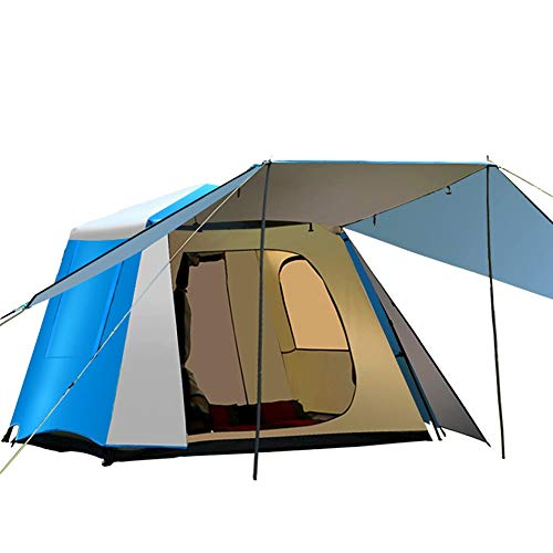 Tent Outdoor 3-4-5 multi-person large automatic, outdoor camping with a room and a hall and square roof