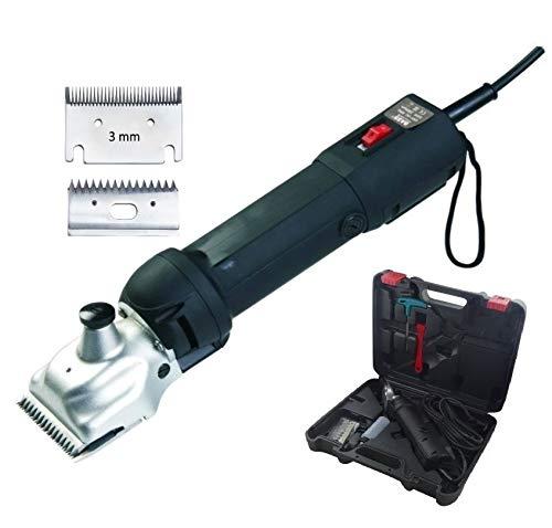 Esquiladora Eléctrica Profesional Folk FL7 Caballo, Mulo, Perros, 500W - C (+ 1 Kit Cuchilla y Peine Extra 3 mm)