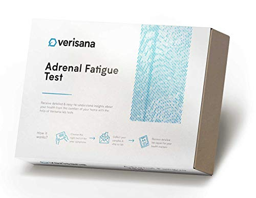 Adrenal Fatigue Test – Saliva Test Kit for Diurnal Cortisol Levels and DHEA – Measure 4 Salivary Cortisol Levels and 1 DHEA Level to Determine Cause of Anxiety, Depression, etc. - Verisana