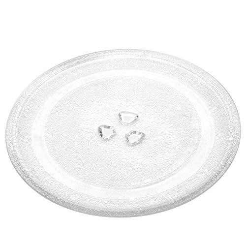 Plato Universal de Vidrio para Microondas, Universal Microondas Plato Giratorio Placa de Cristal, Incluye 3 Accesorios, de 254 mm