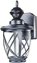 Heath Zenith HZ-4630-BK 500 Lumen LED Decorative Security Motion Light with Dualbrite Technology, Black