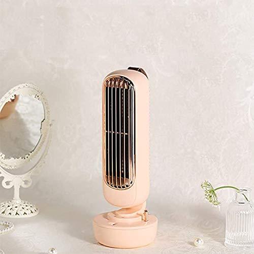 LV one 2020 Nuevo Retro Torre de humidificación del Ventilador Creativo de Dos-en-uno Aerosol del Ventilador de humidificación integrada USB Ventilador de Escritorio,Rosado