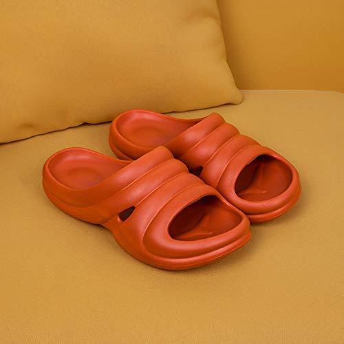 TDYSDYN Tira Ancha, Sandalia Tipo Chancla Verano,Sandalias y Zapatillas de Pareja a Rayas, Zapatillas de Ducha de baño para el hogar-Caramelo_39-40