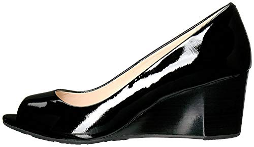Cole Haan Women's Sadie Ot Wedge 65mm Pump, Black Patent, 8.5 B US