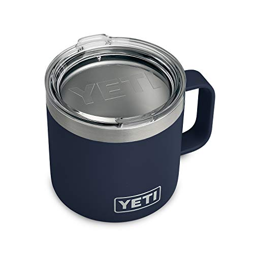 YETI Rambler 14 oz Stainless Steel Vacuum Insulated Mug with Lid, Navy