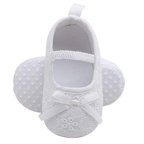 DEBAIJIA Baby Girl Princess Shoes Toddler Prewalker Shoes Lovely Crown Lace Soft Sole Anti-Slip Synthetic Leather Fashion Casual Suitable for 6-18 Months Infant Magic Tape