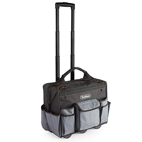 VonHaus Rolling Tool Bag – Heavy Duty Roller Storage – Large Capacity – Telescopic Handle & Durable Wheels – Strong Material