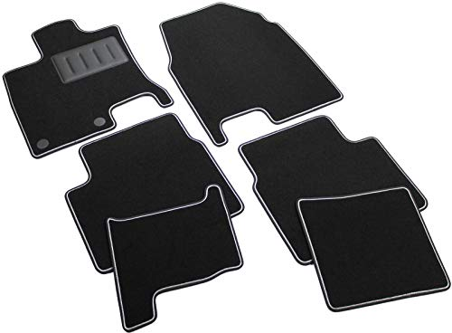 ilTappetoAuto by Fabbri3 - SPRINT03303 - Compatible avec Tapis de Voiture sur Mesure en Moquette Noire pour Nissan Qashqai +2