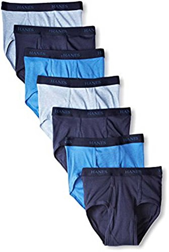 Hanes Men's 7-Pack Classic Assorted Colors Tagless Briefs
