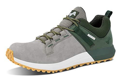 Forsake Range Low – Men's Waterproof Leather Approach Sneaker (10.5 D(M), Olive/Grey)
