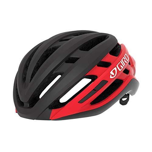 Giro Agilis Helme A, Matt Schwarz/Leuchtend Rot, M