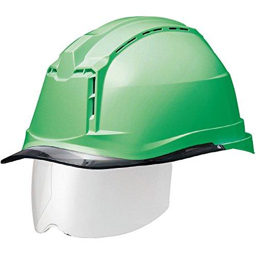ミドリ安全 ヘルメット 一般作業用 通気孔付 スライダー面 SC19PCLVS RA3 αライナー付 グリーン スモーク
