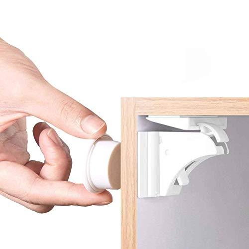 Magnetische Kindersicherung Schrankschloss | 18 Schlösser mit 3 Schlüssel | WoZon Baby Sicherheit Unsichtbare Schubladensicherung | Kindersicherung für Küchen
