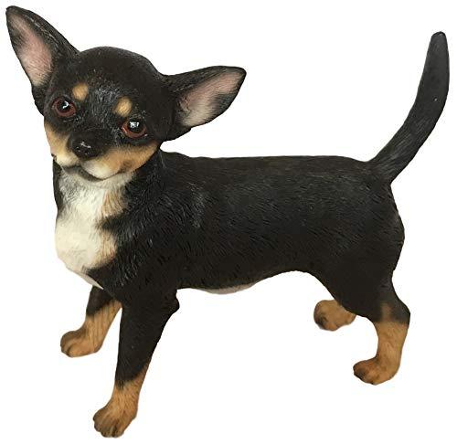 The Leonardo Collection LP41668 Dekofigur Chihuahua, schwarz, hellbraun und weiß, 11 x 6 x 11 cm