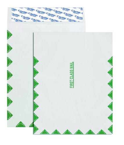 Columbian Envelopes 10 x 13-Inch First Class Mail White Envelopes Made with Dupont Tyvek Material, 100 Count (COLO806)
