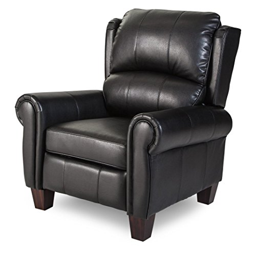 Push Back Style Wingback Leather Recliner for Any Living Room Decor. This...
