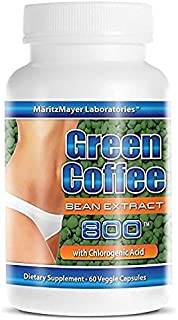 Green Coffee Bean Extact 800 with 50% Chlorogenic Acid Weight Loss 60 Capsules Per Bottle
