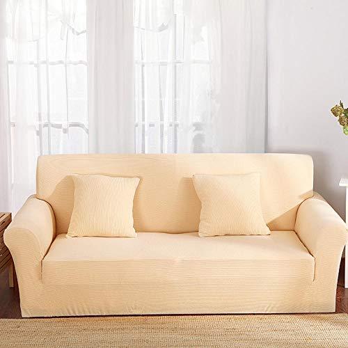 HXTSWGS Housse de Canapé d'angle,Elastic Sofa Cover, Living Room Sofa Cover, Elastic Furniture Cover-Romantic Yellow_190-230cm
