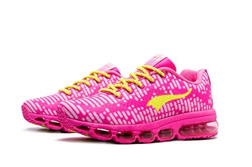 ONEMIX Laufschuhe Damen Herren Atmungsaktiv Sportschuhe Sneaker Straßenlaufschuhe Freizeitschuhe für Outdoor Fitness Walkingschuhe 1180 Pink 38