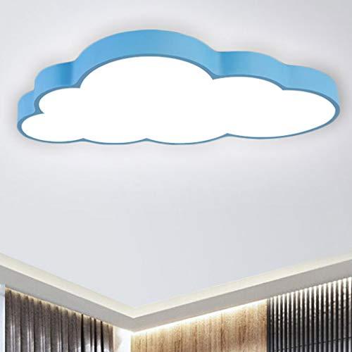 BFYLIN 64W Nubes creativas Lámpara de techo Regulable LED Lámpara Del Techo Pasillo Salón Dormitorio De La Lámpara Ahorro De Cocina Ahorro De Energía Luz (azul -Nubes 64W)
