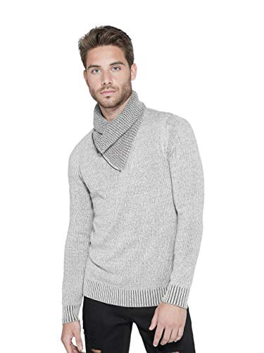 GUESS Factory Men's Clay Shawl Zip Warm Long-Sleeve Sweater