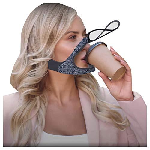 Yue668 Zweischichtige Atmungsaktive Gesichtsbedeckung Mit Klarem Fenster Sichtbarer Ausdruck Für Gehörlose Und Schwerhörige, Öffnen Sie Transparente Mundbedeckung Mundschutz Für Männer Frauen (A)