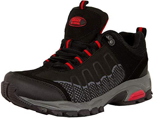 GUGGEN Mountain, Frauen Trekkingschuhe Damen Wanderschuhe Walkingschuhe Outdoorschuhe Outdoor Schuhe Softshell T002, Farbe Schwarz, EU 39