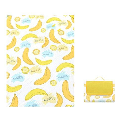 SKLLA - Alfombrilla plegable para picnic al aire libre, 3 mm, impermeable, a prueba de humedad, lavable a máquina, esterilla de yoga para niños, alfombra de suelo de tienda de campaña, Bear Patter ZZAY