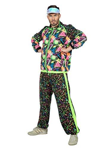 Wilbers & Wilbers 90er 80er Trainingsanzug Proll Assi Neon Jogginganzug Swag