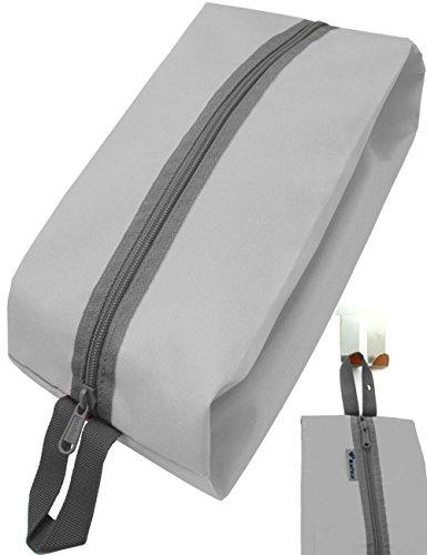 Outdoor Saxx® - Camping-Tasche Zelt-Tasche Schuh-Tasche Kleider-Beutel Ausrüstungs-Tasche Kulturbeutel, Reißverschluss Schlaufe strapazierfähig, 35x15x10cm grau