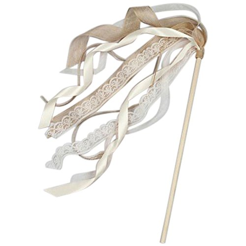 David's Bridal Ribbon Flower Girl Wand Style DB71030, Ivory