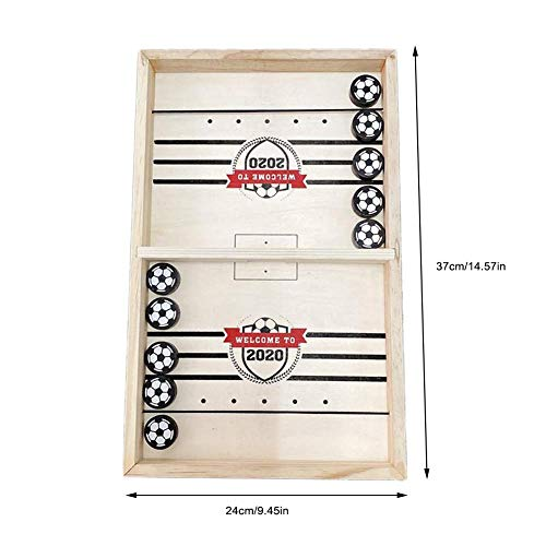 Voyoo Knock Hockey Game Patchwork Coinhole Pit Pass The PigsBounce Chess Game Set Lightweight Compact Foosball Winner Board ParentChild Interactive Toy