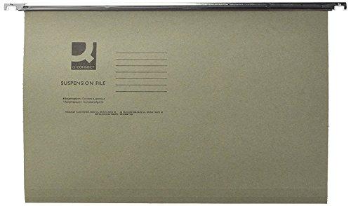 Q-Connect KF21004 - Carpetas colgantes con pestañas, (240x300 mm, 50 unidades)