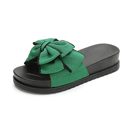 Fbewan Cubierta Pantuflas al Aire Libre de Diapositivas de Las Mujeres Sandalias de baño Zapatillas Ligero Antideslizante de la Sandalia Unisex,Verde,40