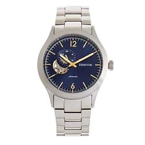 Heritor Antoine HERHR8503 Reloj automático de pulsera de acero inoxidable para hombre