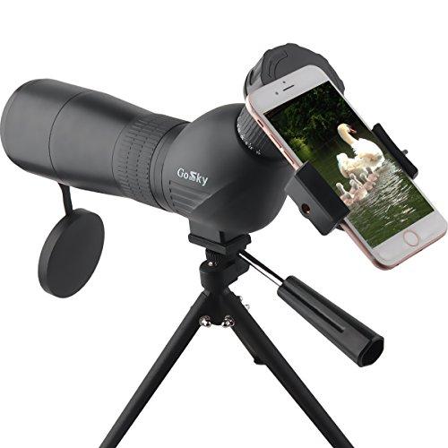 Gosky. Telescopio monocular con zoom 15-45X 60 para observación de pájaros (angular), con trípode y adaptador para...