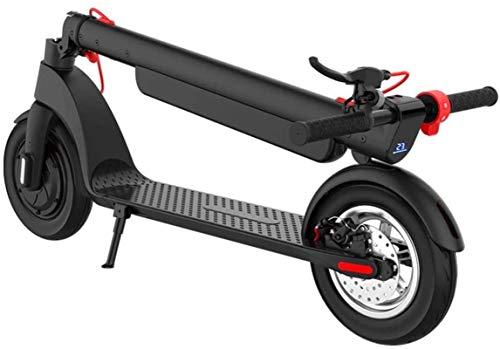 Bicicleta eléctrica de nieve, Bicicletas eléctricas rápidas for Adultos Adolescentes 45 kilometros de largo alcance plegable scooter con 10' neumáticos de aire del motor 350W 10Ah batería extraíble Pa