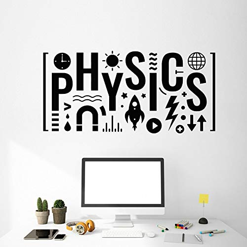 Física etiqueta de la pared texto escuela ciencia laboratorio educación aula decoración interior vinilo etiqueta de la pared mural creativo