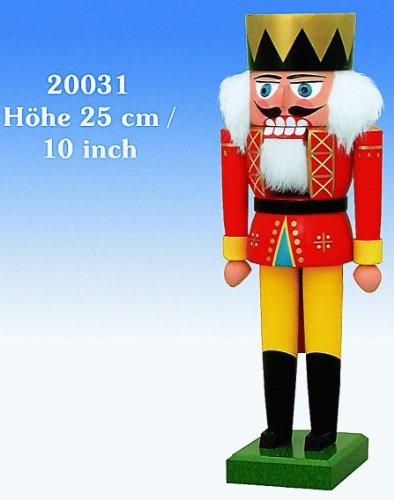 German Christmas Nutcracker King - 19 cm - Authentic German Erzgebirge Nutcrackers - KWO