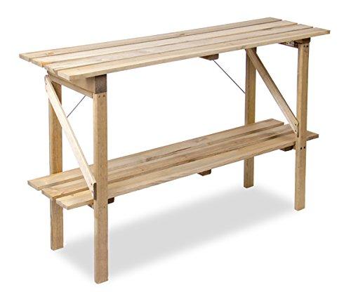 Table de Culture Pliable à Étages en Bois Lacewing - L 1.22m x P 35cm